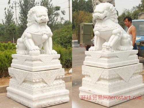 石狮子,汉白玉石狮子,北京狮