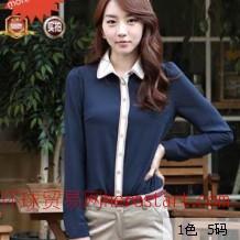 韩版街头甜美 修身蕾丝衬衫
