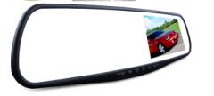 4.3寸双镜头高清后视镜行车记录仪