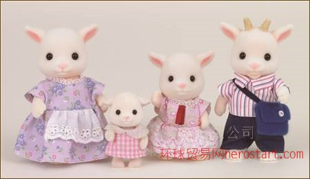 植绒加工厂臻茹植绒加工厂提供仿真山羊森贝尔家族玩具植绒植毛加工