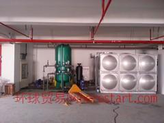 康霸玻璃钢储罐式雨水收集处理回用设备