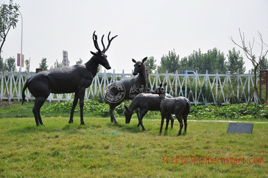 辰元文化园林雕塑——七里海动植物及民俗雕塑组群