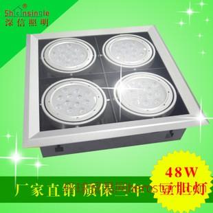 超亮节能4头48WLED商业家居照明斗豆胆射灯天花灯