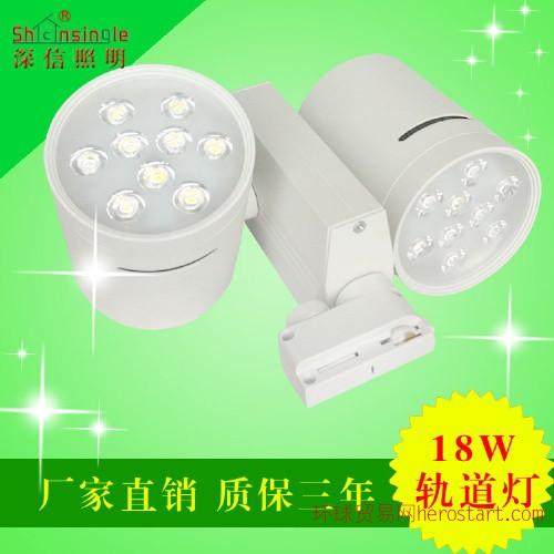 LED大功率商业照明18W双头轨道射灯