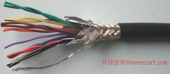 KVVP聚氯乙烯绝缘和护套铜丝编织屏蔽控制电缆