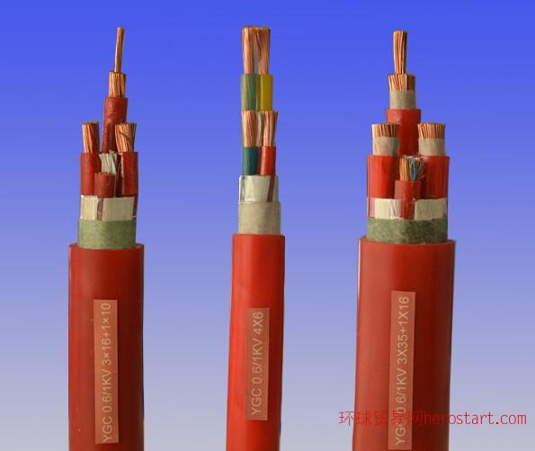 YGC铜芯导体硅橡胶绝缘硅橡胶护套移动软电力电缆