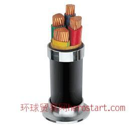 YJV22-T交联聚乙烯钢带铠装同心导体电力电缆
