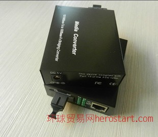 高清网络摄像机专用工业级百兆单纤光纤收发器光电转换器FC/SC/ST