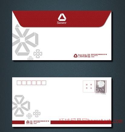 石家庄西式中式信封设计印刷