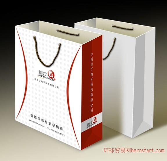 石家庄公司广告纸袋手提袋印刷定做