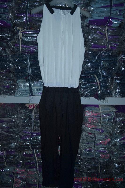 厂家直清低价尾货库存女装雪纺连体裤