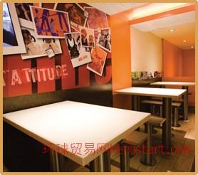 深圳奶茶店收银台,咖啡厅餐桌