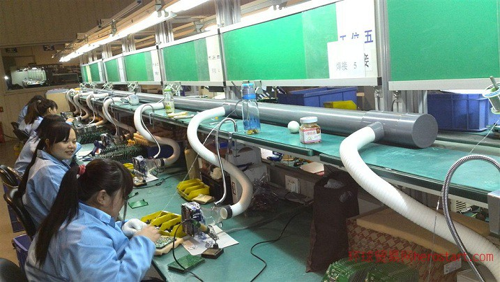 福永焊锡烟排放塘尾焊烟抽取排风聚能通风
