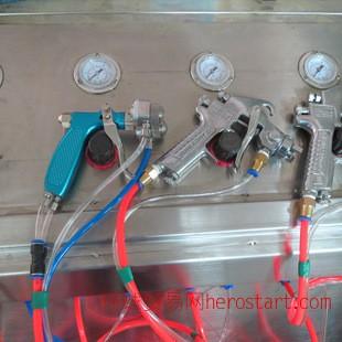 喷镀技术能喷出电镀效果 喷粉防锈 双头喷枪