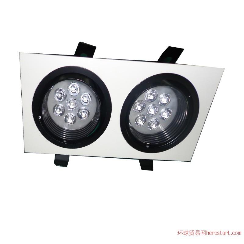 供应双头LED 14W格栅天花灯大功率格栅天花灯