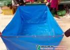 深圳夹网布鱼池 夹网布观赏鱼池 夹网布鱼池制品JL600A3