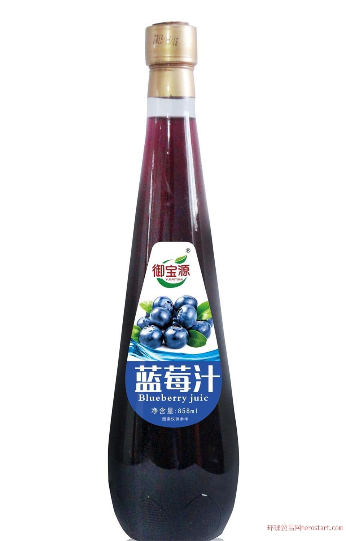 御宝源蓝莓汁858ml