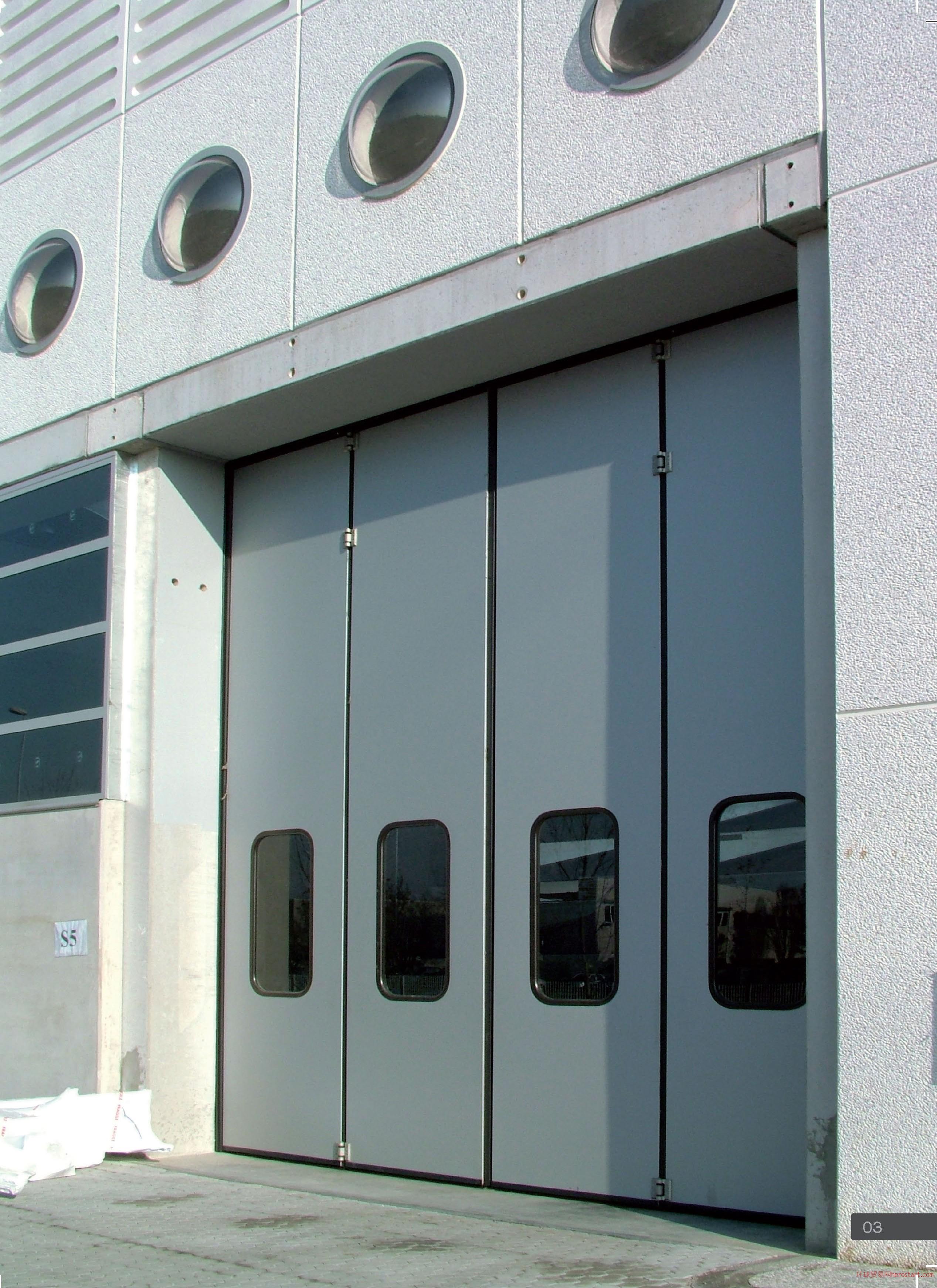包头北斗门业电动折叠门