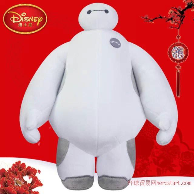 超能陆战队大白迪士尼白胖子毛绒玩具机器人暖男玩偶