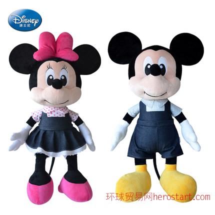 迪士尼牛仔米老鼠毛绒玩具米妮公仔儿童米奇娃娃