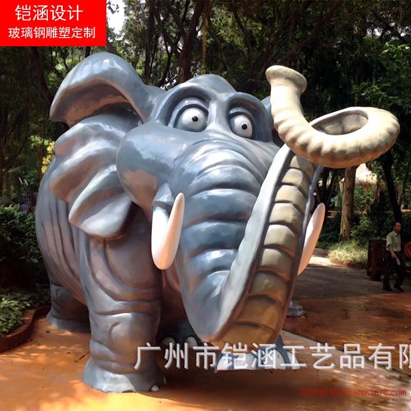 厂家定制仿真动物雕塑,仿真大象雕塑!