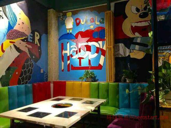 墙绘设计,餐饮墙绘,酒吧墙绘,专业手绘墙