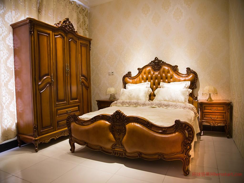 供应欧式古典家具跃嘉康套房家具欧式实木大床