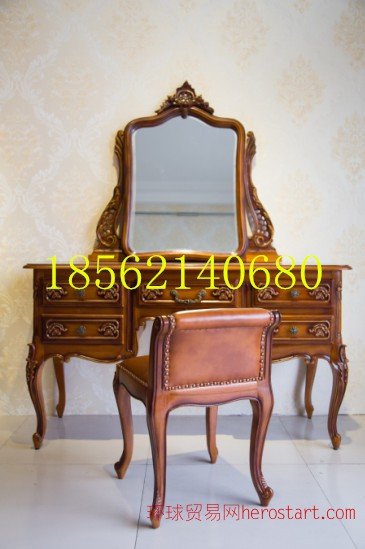 供应北京实木古典梳妆台家具环保家具