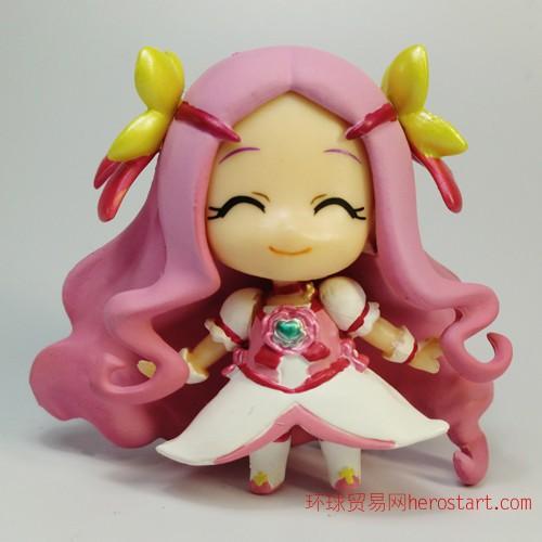 塑胶玩具动漫手办 q版动漫美少女塑胶公仔生产厂家