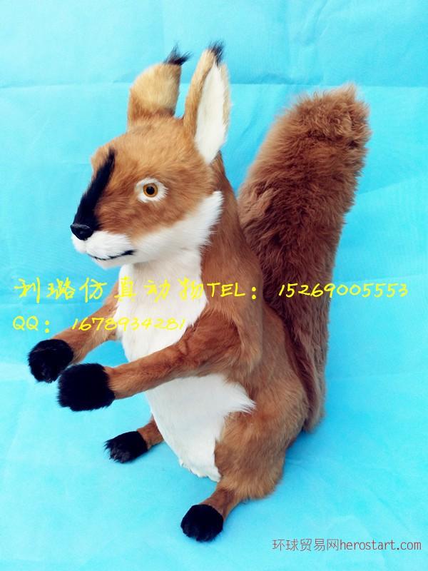 厂家直销大型仿真皮毛动物松鼠模型展厅来图定做