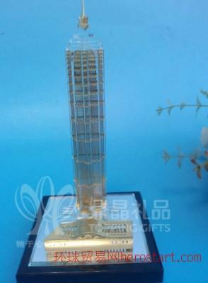 特色纪念品 上海金茂大厦水晶模型