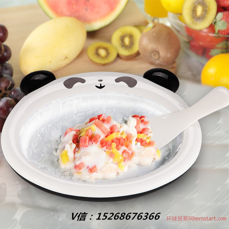 家用炒冰机小型自制雪糕机水果冰淇淋机 炒冰神器