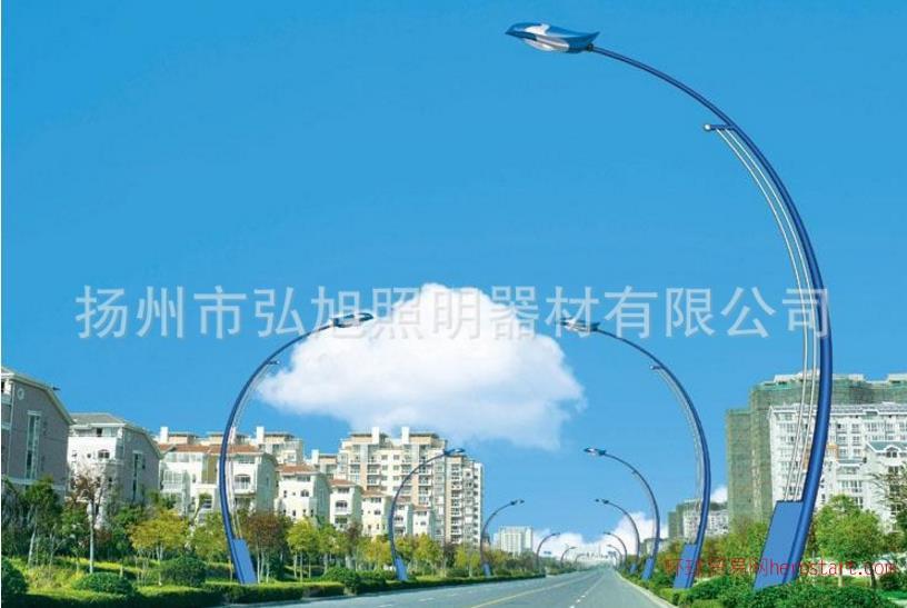 弘旭照明供应5米6米自弯臂路灯400W钠灯