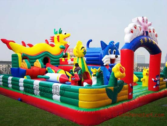 充气城堡 游乐 广场 公园 大型滑梯蹦蹦床