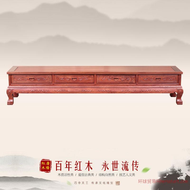 东阳唐隆红木非花2.2米弯角电视柜