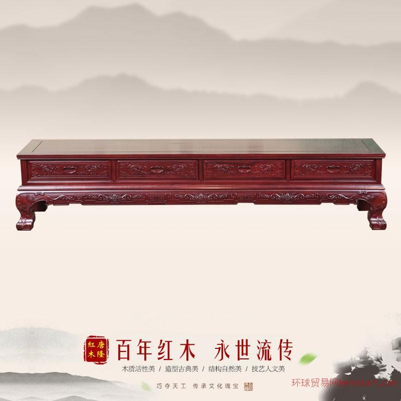 东阳唐隆红木非酸2.2米弯角电视柜
