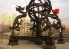 铜雕塑四龙戏珠,铜雕二龙戏珠,城市雕塑