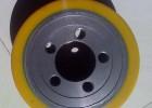 供应武汉电动叉车轮耐磨聚氨酯橡胶包胶