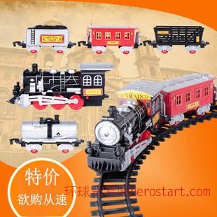 儿童组装电动弯曲超长灯光音效运煤玩具托马斯轨道仿真古典火车