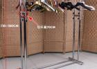 宜诺铁艺落地双杠服装货架 服装店衣架展示架落地衣架中岛架