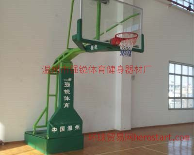 电动液压篮球架-温州篮球架-温州强锐