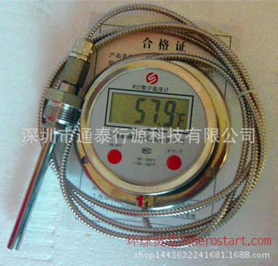 不锈钢数显温度计 工业锅炉数字显示电子仪表高精度温度计