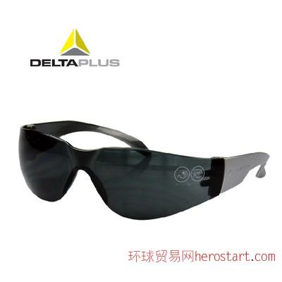 代尔塔黑色电焊眼镜 防紫外线防护眼罩 防风防尘护目镜