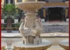 黄锈石水钵 石雕喷泉 石材水钵