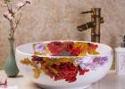景德镇陶瓷艺术台上盆 现代时尚简约洗手盆面盆 中式圆形洗脸盆