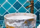 景德镇 陶瓷艺术盆酒店卫生间洗脸盆洗手盆面盆中式复古圆形台盆