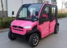 4座带空调电动代步车/封闭式电动观光车厂家销售价格