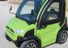 2人座带门带空调封闭式电动代步车/房地产看房封闭式电动车销售