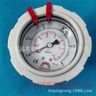 台湾华记GF-ACFH1充油式PP隔膜压力计GAUGE  SAFE