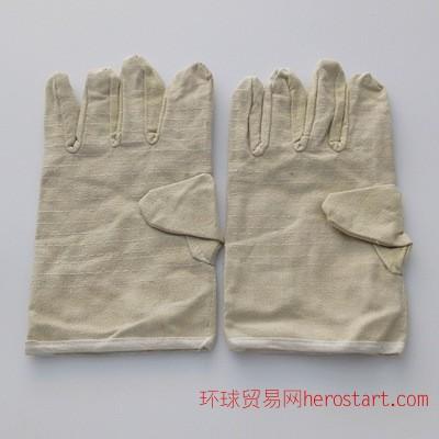 帆布双层劳保用品手套双层加厚劳工作业防护耐磨电焊手套批发手套